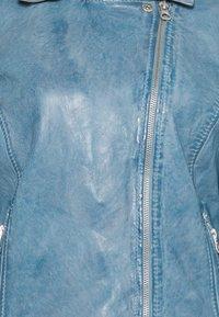 Gipsy - FAVOUR LAMAXV - Leather jacket - light blue - 2