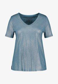 Samoon - T-shirt basic - blue coral - 2