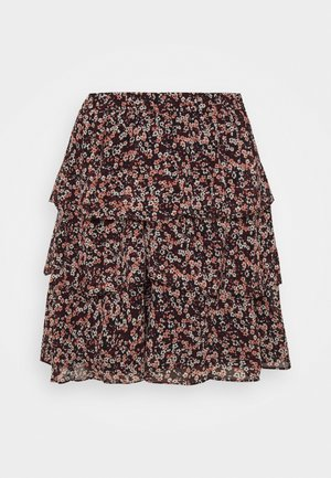 DAINT BLOOM TIER SKT - Mini skirt - dark ruby