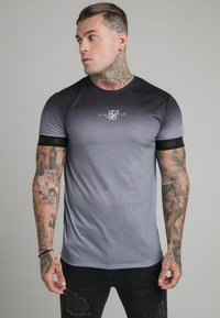 SIKSILK - HIGH FADE TECH TEE - T-shirt med print - black/grey - 0