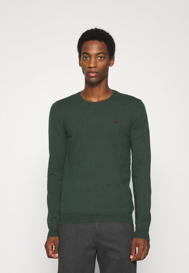 POKI - Strickpullover - dark jade green