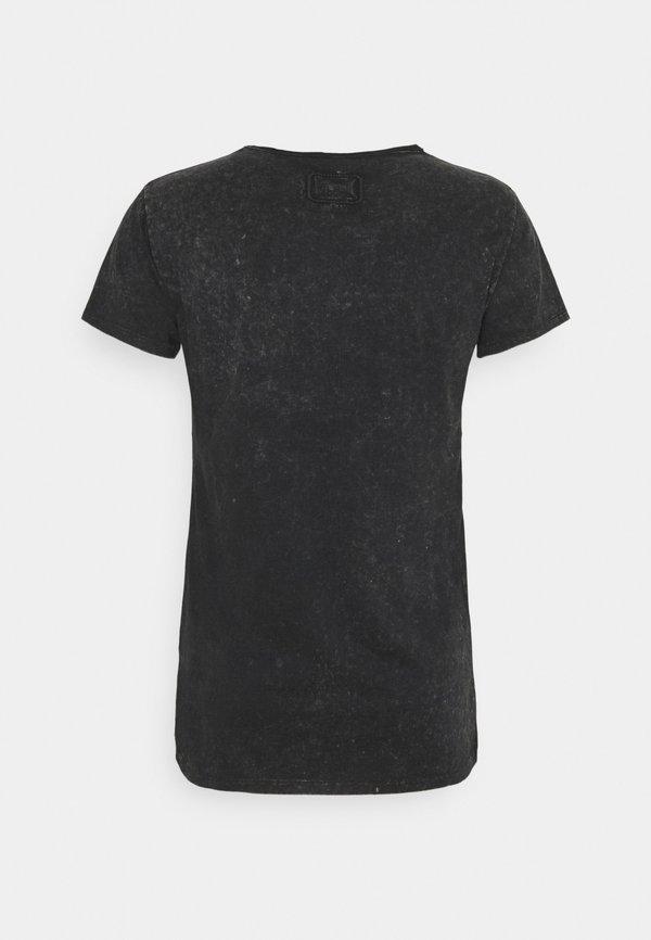 Tigha DEAD HAND WREN - T-shirt z nadrukiem - vintage black/czarny Odzież Męska GFBV