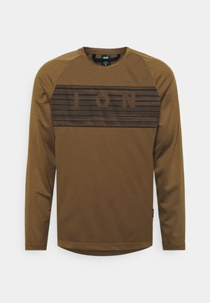 SCRUB  - Long sleeved top - mud brown