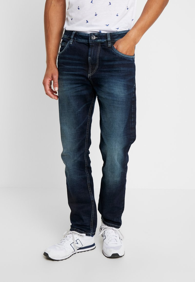 TOM TAILOR - TRAD - Relaxed fit jeans - dark stone wash denim blue