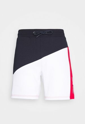 BLOCKED TERRY SHORT - Sports shorts - blue