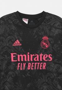 adidas Performance - REAL MADRID AEROREADY SPORTS FOOTBALL UNISEX - Club wear - black - 4