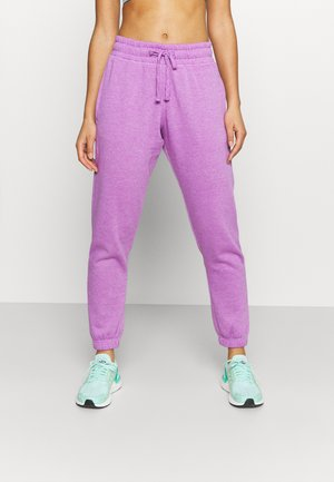 LIFESTYLE GYM TRACK PANTS - Tracksuit bottoms - smokey grape marle