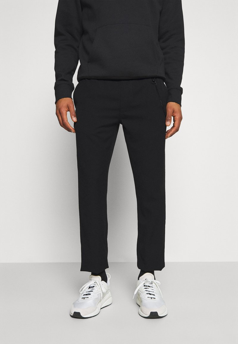 Tommy Jeans - SOLID SCANTON PANT - Trousers - black