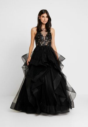 Společenské šaty - schwarz/nude