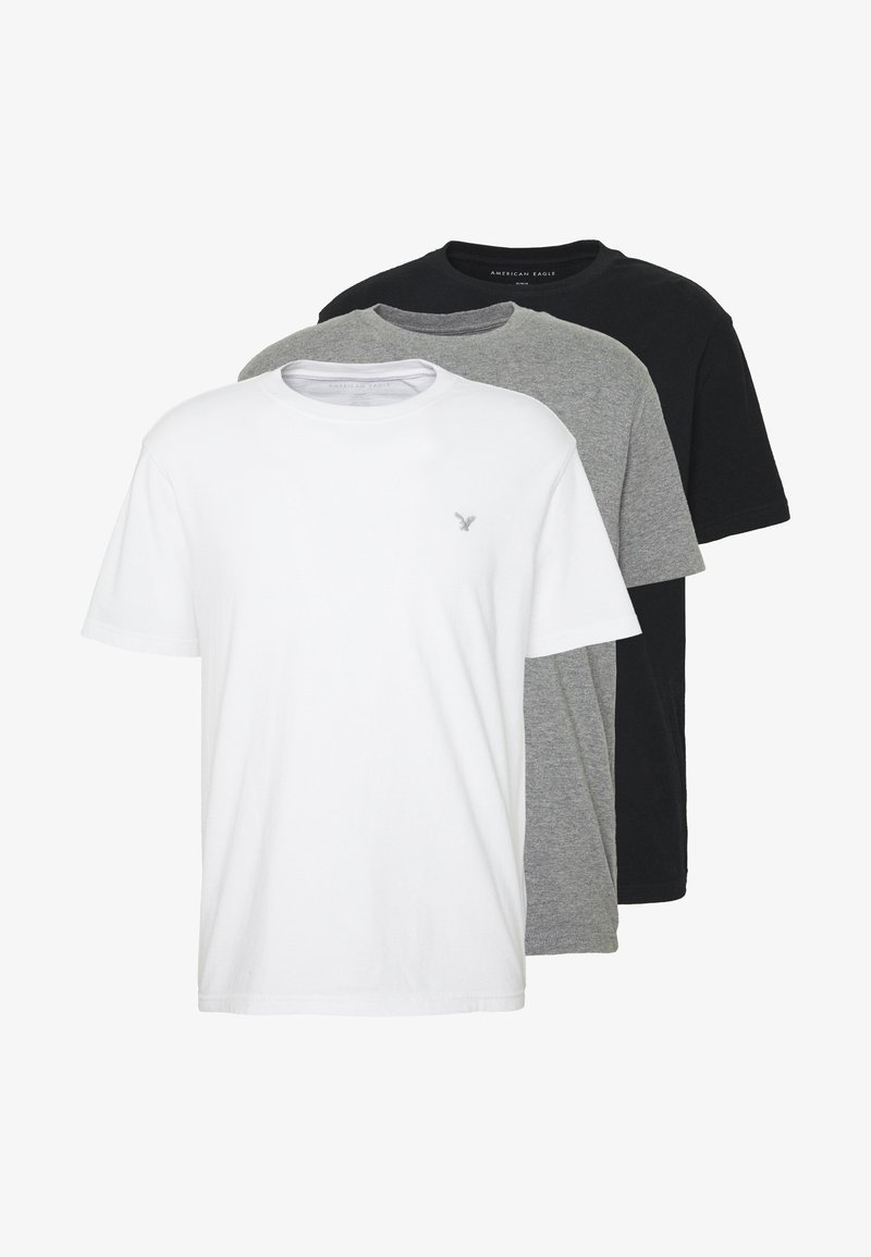 American Eagle CREW TEE 3 PACK - T-Shirt print - multi/weiß yDpThz