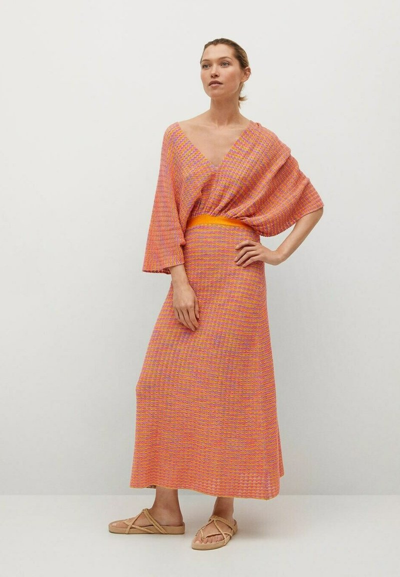 Mango - FAIRY - Strikket kjole - orange