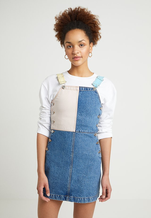 A WINONA PINAFORE - Denim dress - blue denim