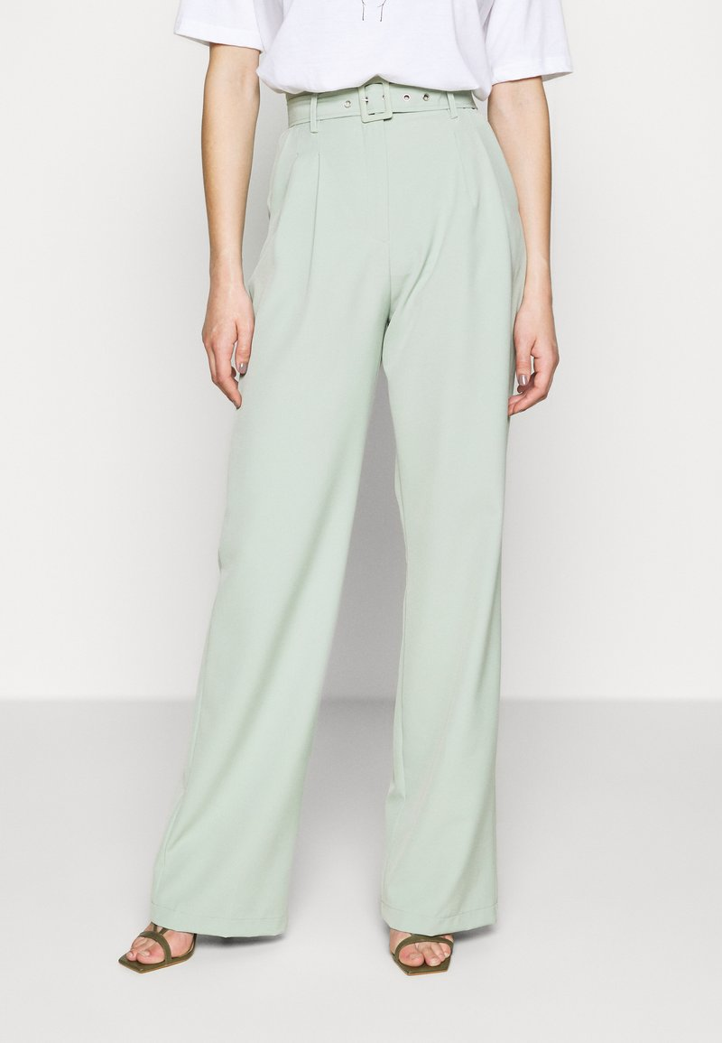 Missguided Tall - BALLOON WIDE LEG TROUSERS - Spodnie materiałowe - mint