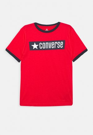GRAPHIC RINGER TEE - Print T-shirt - university red
