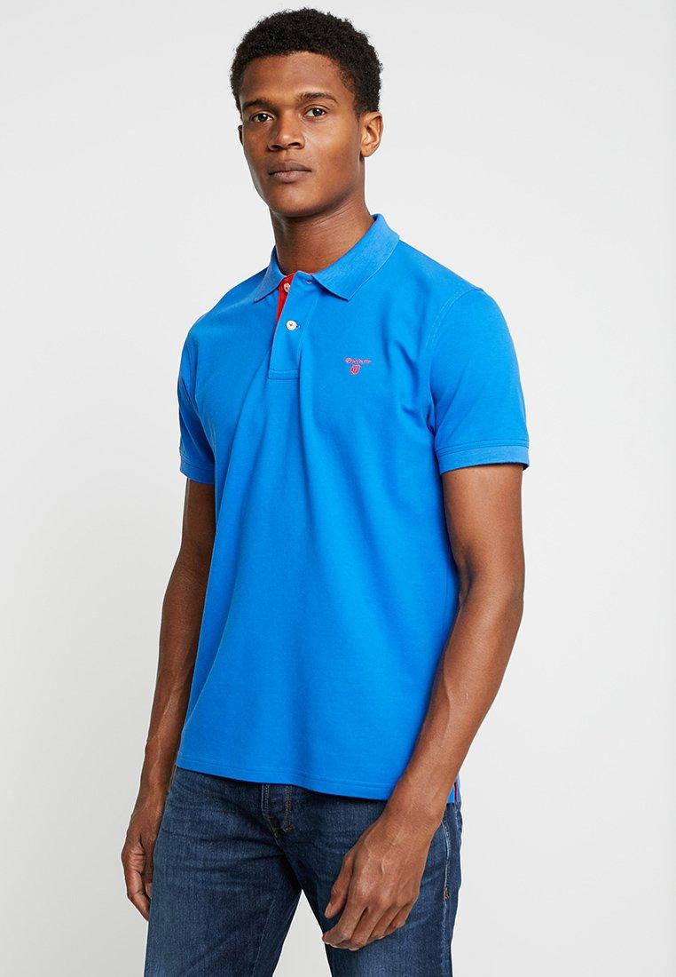 GANT - CONTRAST COLLAR RUGGER - Polo shirt - lake blue