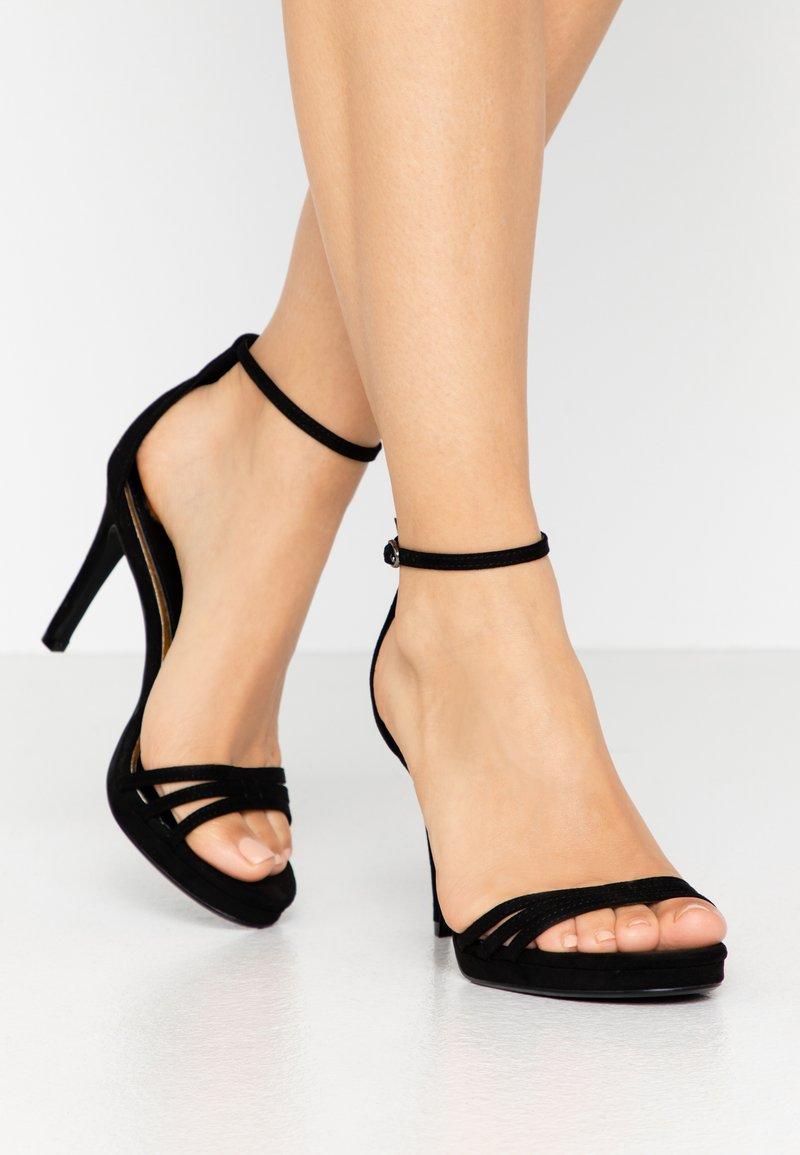 Buffalo - MELISSA - Korolliset sandaalit - black