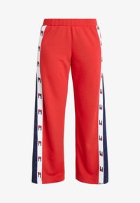 Tommy Sport - FLAG TAPE PANT FLARE - Träningsbyxor - red - 5