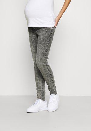MLUTAH ORGANIC SLIM - Slim fit jeans - black denim