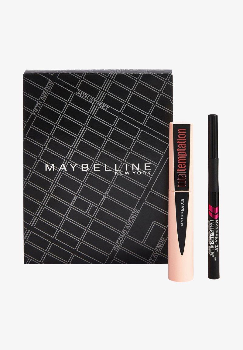 Maybelline New York - MAKE-UP SET TOTAL TEMPTATION MASCARA + HYPER PRECISE LIQUID LINER - Makeup set - matte black