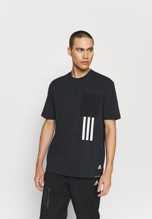 X CITY TEE - Print T-shirt - black