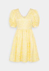 Selected Femme - SLFJOYCE SHORT GOWN - Cocktailklänning - gold colour - 0