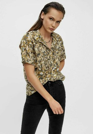 Button-down blouse - khaki