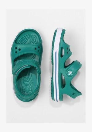 Pool slides - deep green/prep blue
