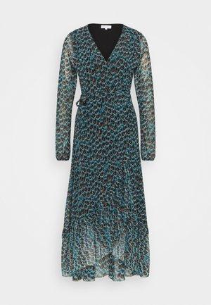 NATASJA FRILL DRESS - Korte jurk - dusty blue/taupe