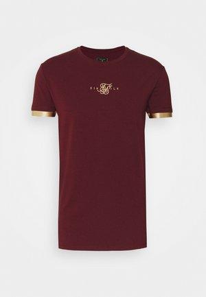 INSET CUFF GYM TEE UNISEX - T-shirt print - burgundy/gold