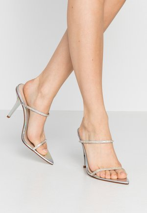 HELENA - Heeled mules - silver
