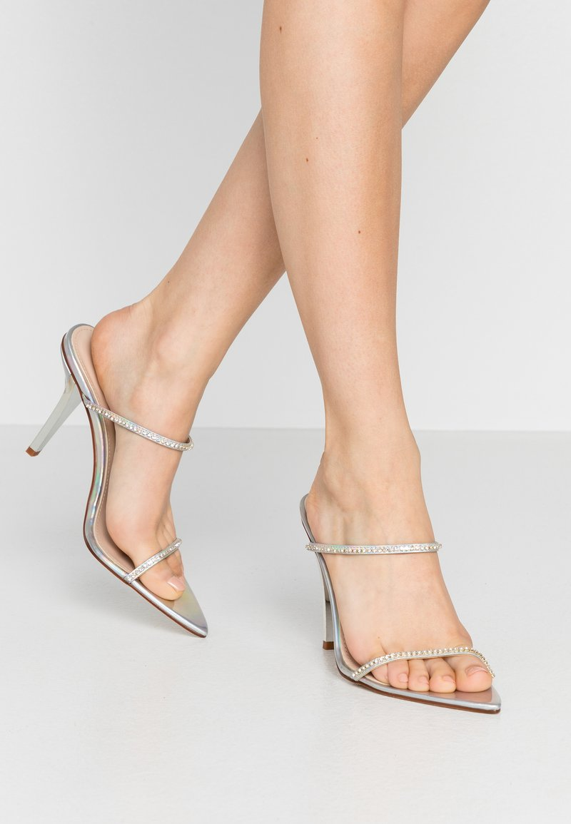 BEBO - HELENA - Pantofle na podpatku - silver