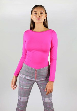 WITH TWISTED BACK - Long sleeved top - pink