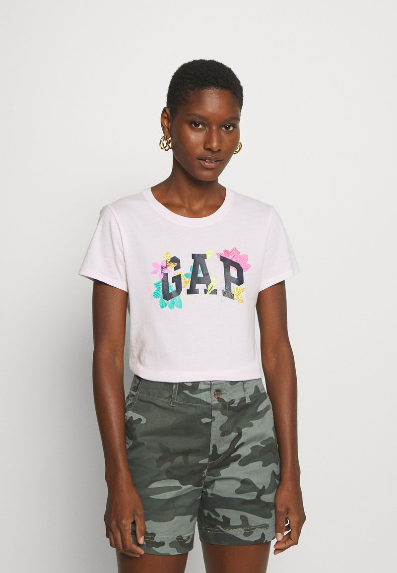 GAP - FRANCHISE FLORAL TEE - T-shirt z nadrukiem - cherry