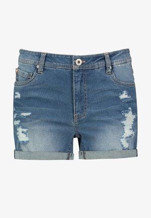 Denim shorts - dark-blue