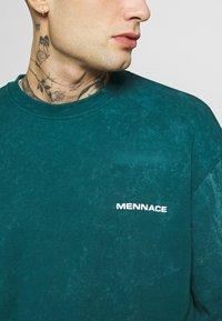 Mennace - ACID WASH BACK - Long sleeved top - teal - 5
