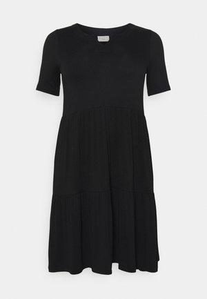 PRELLA DRESS - Jersey dress - black deep
