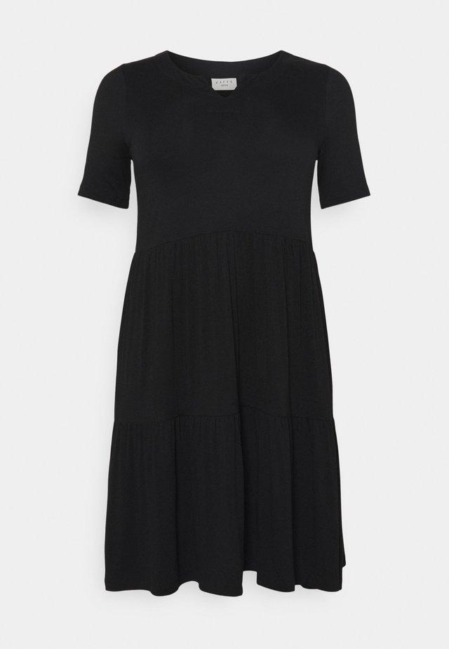 PRELLA DRESS - Vestito di maglina - black deep