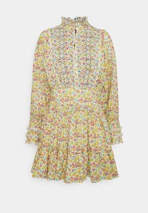 SLUB MINI DRESS - Shirt dress - multi-coloured