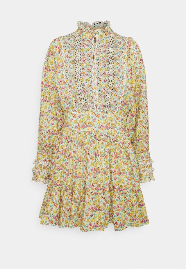 SLUB MINI DRESS - Abito a camicia - multi-coloured