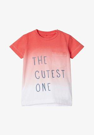 Print T-shirt - calypso coral