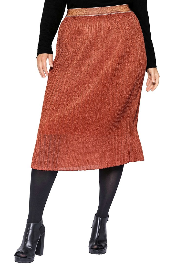 Sheego - Pencil skirt - rostorange