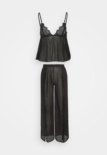 CAMI AND TROUSER - Pyjama - black