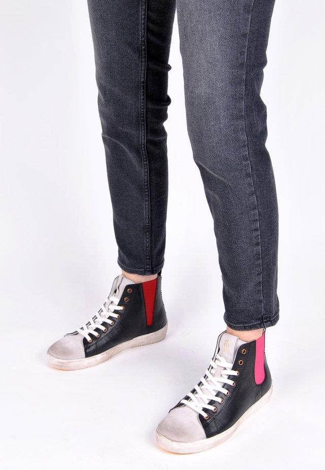 SNEAKER SNEAKER PIPER BUNT - Sneakers hoog - schwarz