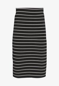 Good American - STRIPE MIDI SKIRT - Pencil skirt - black/white - 3