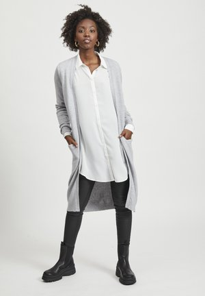 VIRIL LONG CARDIGAN  - Strickjacke - light grey melange