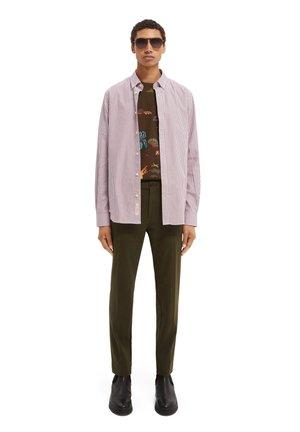 Shirt - purple/white