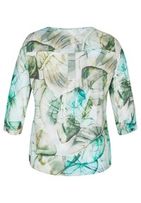 LeComte - MIT MUSTER UND TUNNELZUG - Blouse - olive, white, turquoise - 1