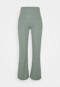 Monki - VIVA TROUSERS SCALE - Bukser - green dusty light palma - 0