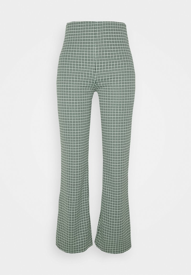 Monki - VIVA TROUSERS SCALE - Bukser - green dusty light palma