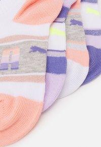Puma - KIDS SEASONAL SNEAKER 4 PACK UNISEX - Socks - white/light pink - 1